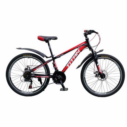 Фото Горный Велосипед 24 Titan Focus черно-красно-белый 2019