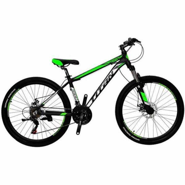 """Фото Горный Велосипед Titan XC2619 рама-17"""" черно-зелено-белый"""
