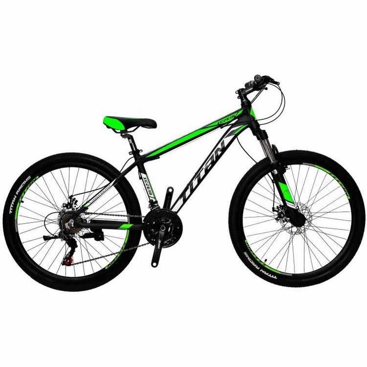 Фото Горный Велосипед Titan XC2619 черно-зелено-белый