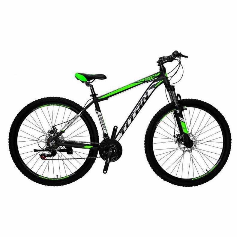 Фото Горный Велосипед Titan XC2919 черно-зелено-белый