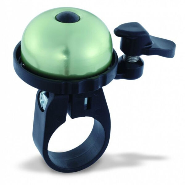 Фото Звонок VENZO с креплением на 22мм зелёный