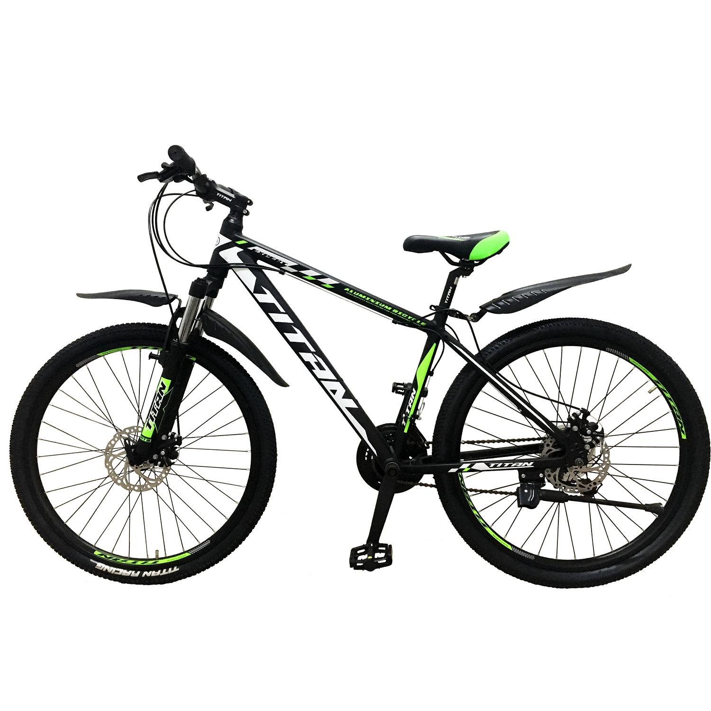 Фото Горный Велосипед Titan Expert 26 черно-зелено-белый