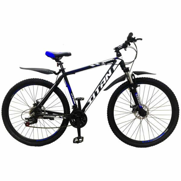 Фото Горный Велосипед Titan Expert 29 черно-сине-белый