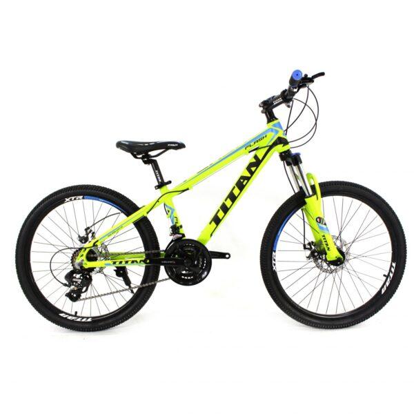 Фото Горный Велосипед Titan Flash 24 зелено-черно-синий
