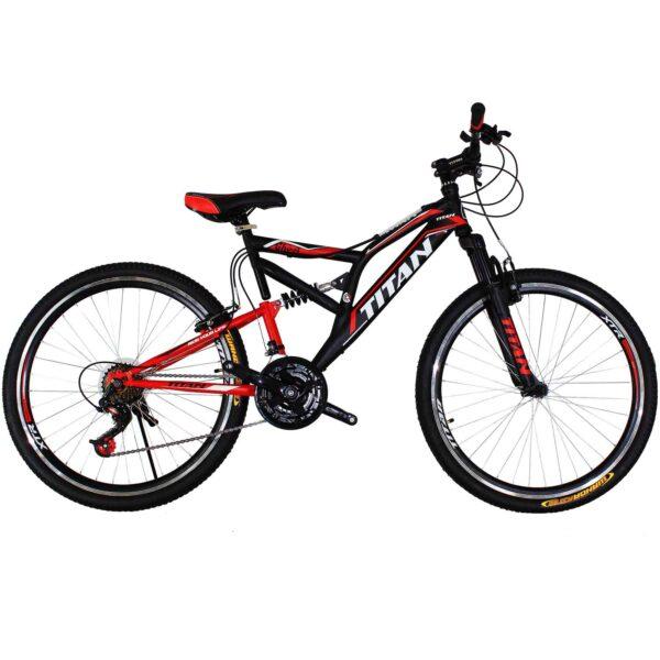Фото Горный Велосипед Titan Ghost черно-красно-белый