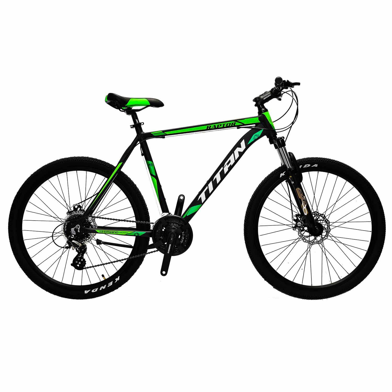 Фото Горный Велосипед Titan Raptor 26 черно-зеленый