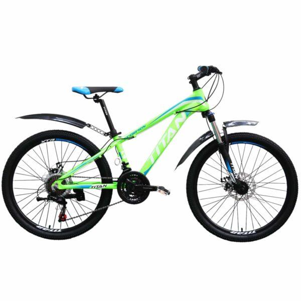 Фото Горный Велосипед Titan Scorpion 24 зелено-бело-синий