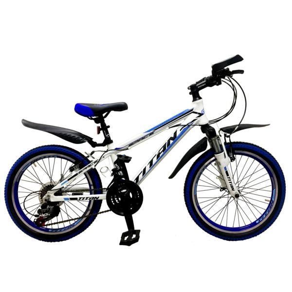 Фото Детский Велосипед Titan Space 20 бело-сине-черный