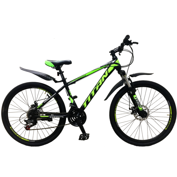 Фото Горный Велосипед Titan Spider 26 черно-зелено-белый