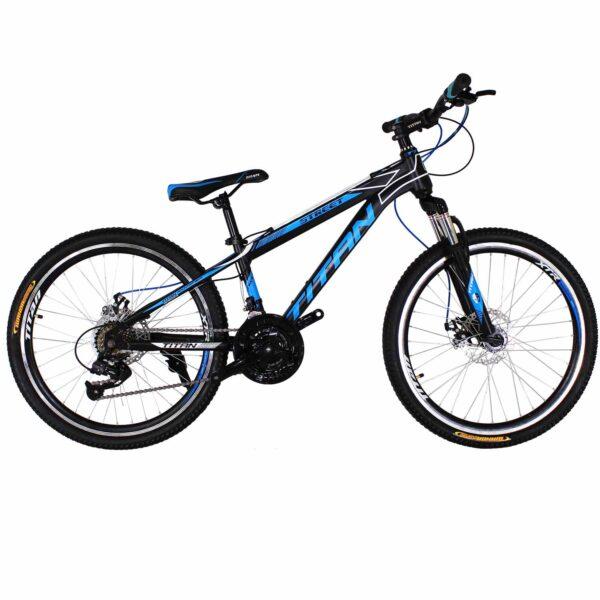 Фото Горный Велосипед Titan Street 24 черно-сине-белый
