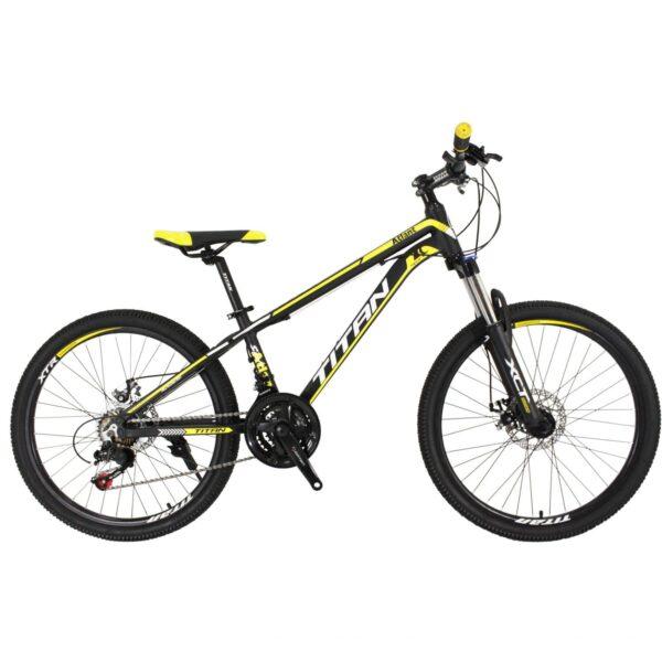 Фото Горный Подростковый Велосипед 24 Titan Atlant черно-желто-белый