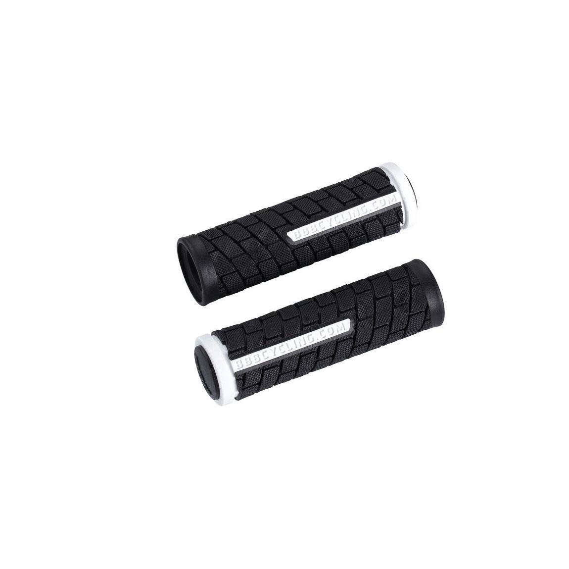 Фото Грипсы BBB BHG-07 «DualGrip» 102мм чёрно-белые