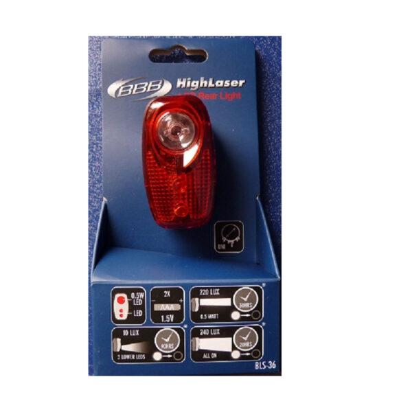 Фото Фонарь задний BBB BLS-36 HighLaser з 0.5W led 2xAAA