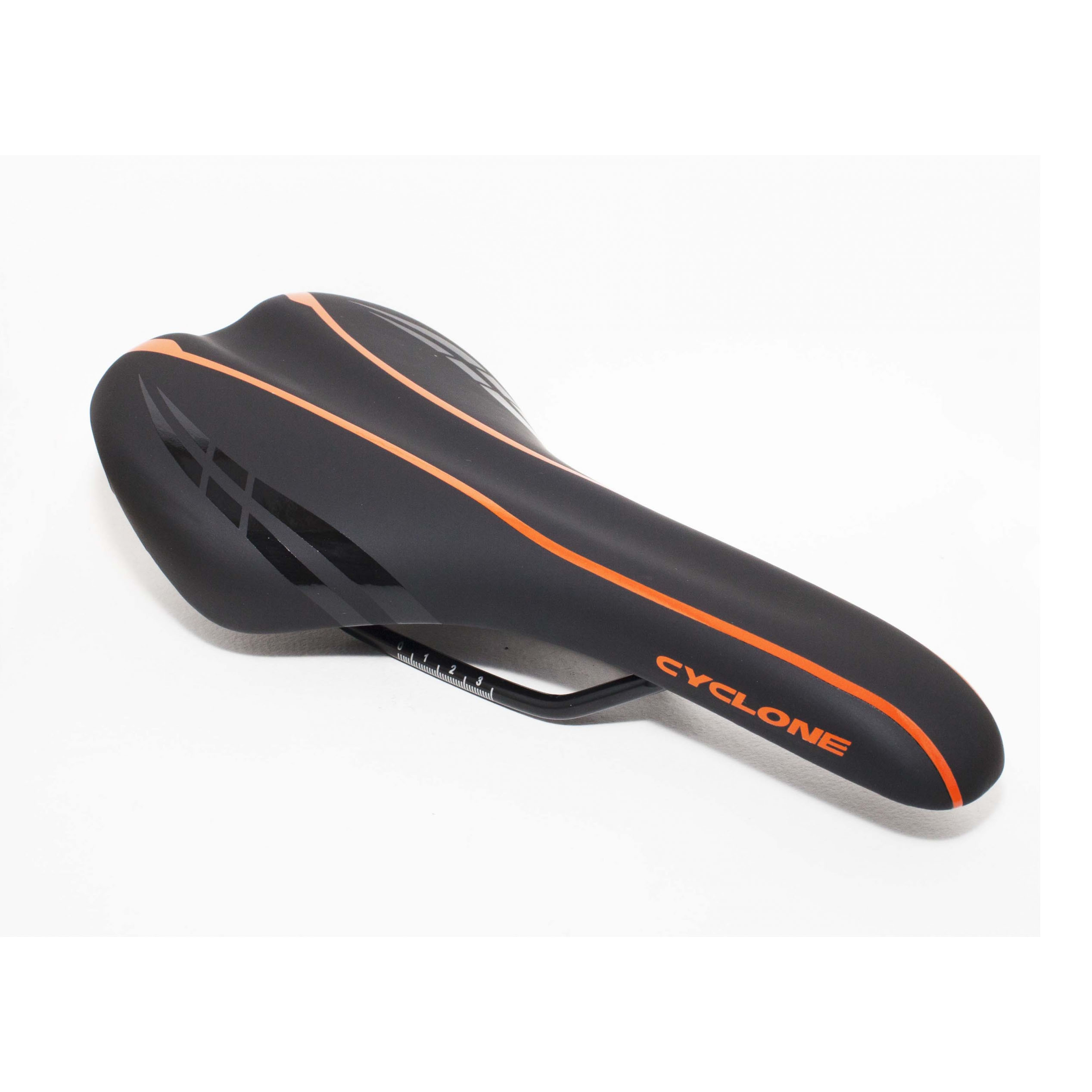 Фото Седло Selle Royal 2065URN лого Сyclone чёрно-оранжевое