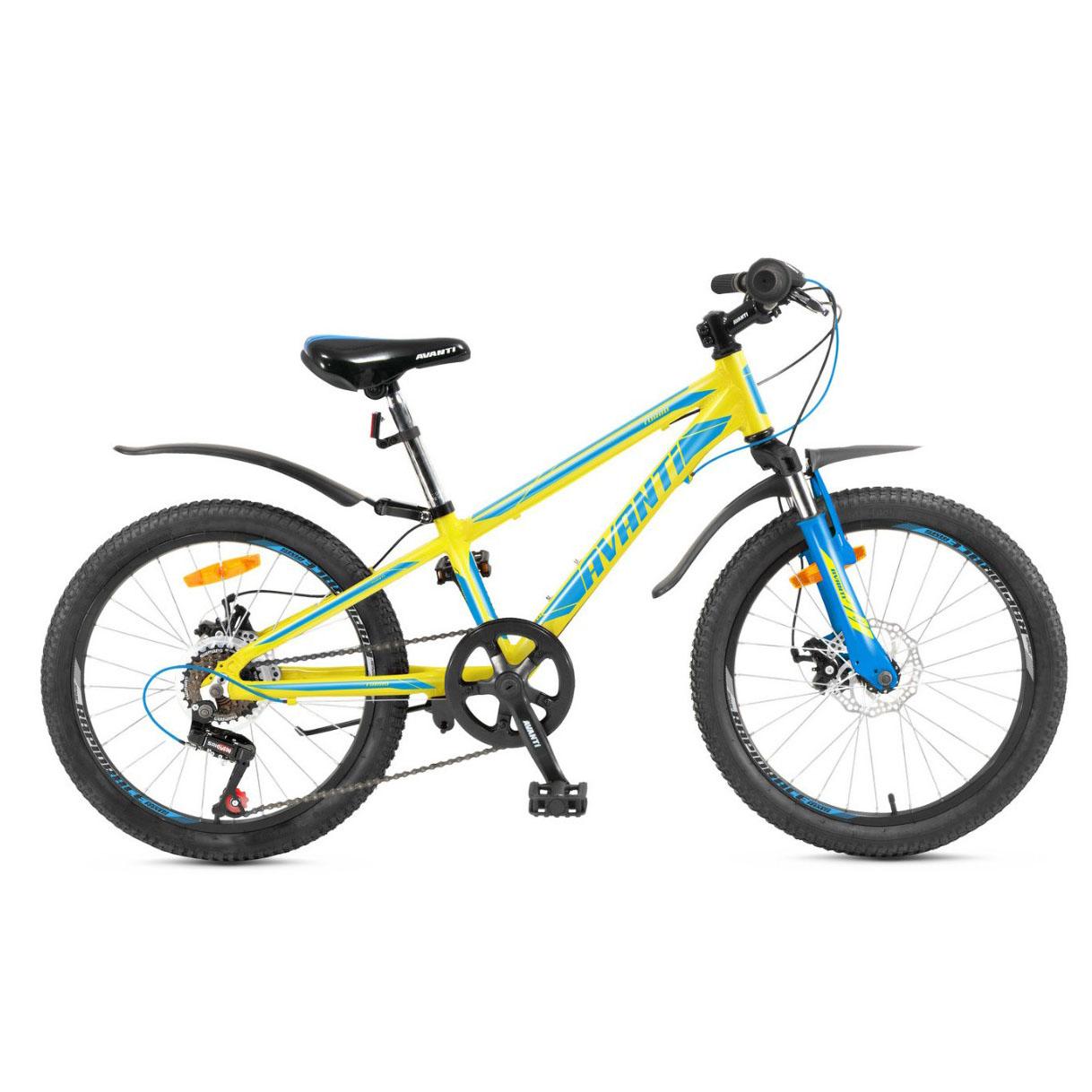 Фото Детский Велосипед 20 Avanti Turbo disk ALU желто-синий