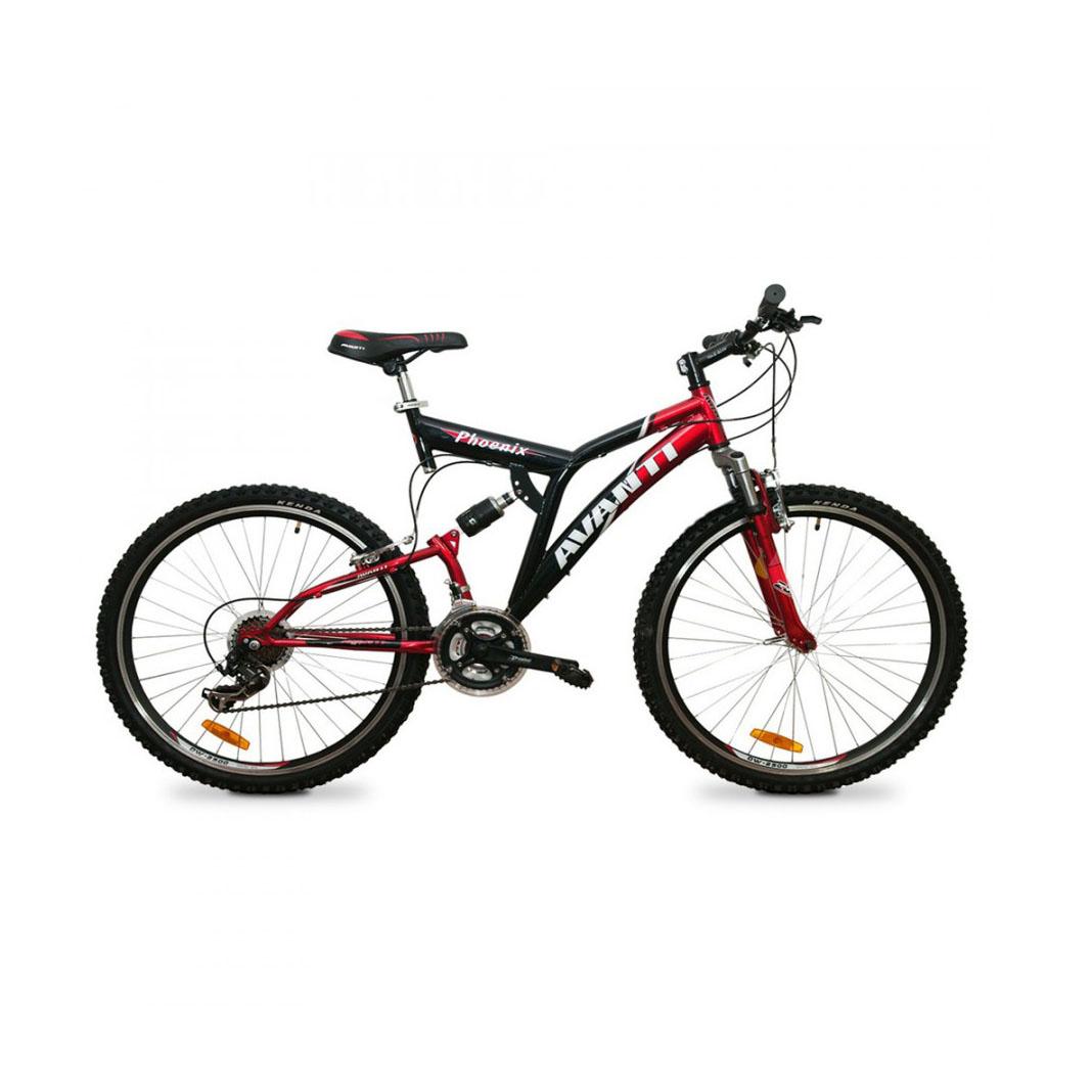 Фото Двухподвесный Велосипед 26 Avanti Phoenix v-br черно-красный