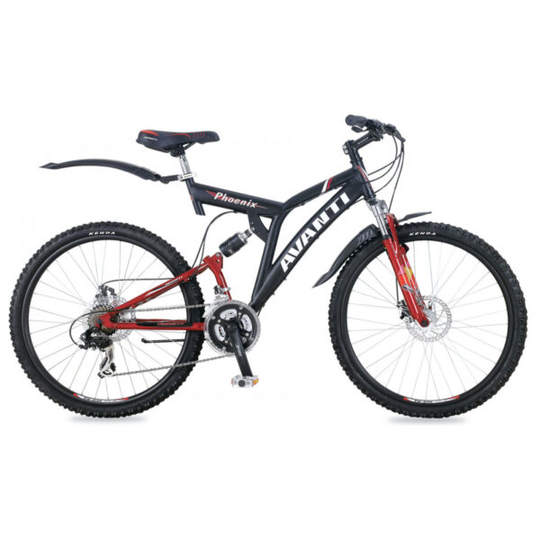 Фото Двухподвесный Велосипед 26 Avanti Phoenix disk черно-красный