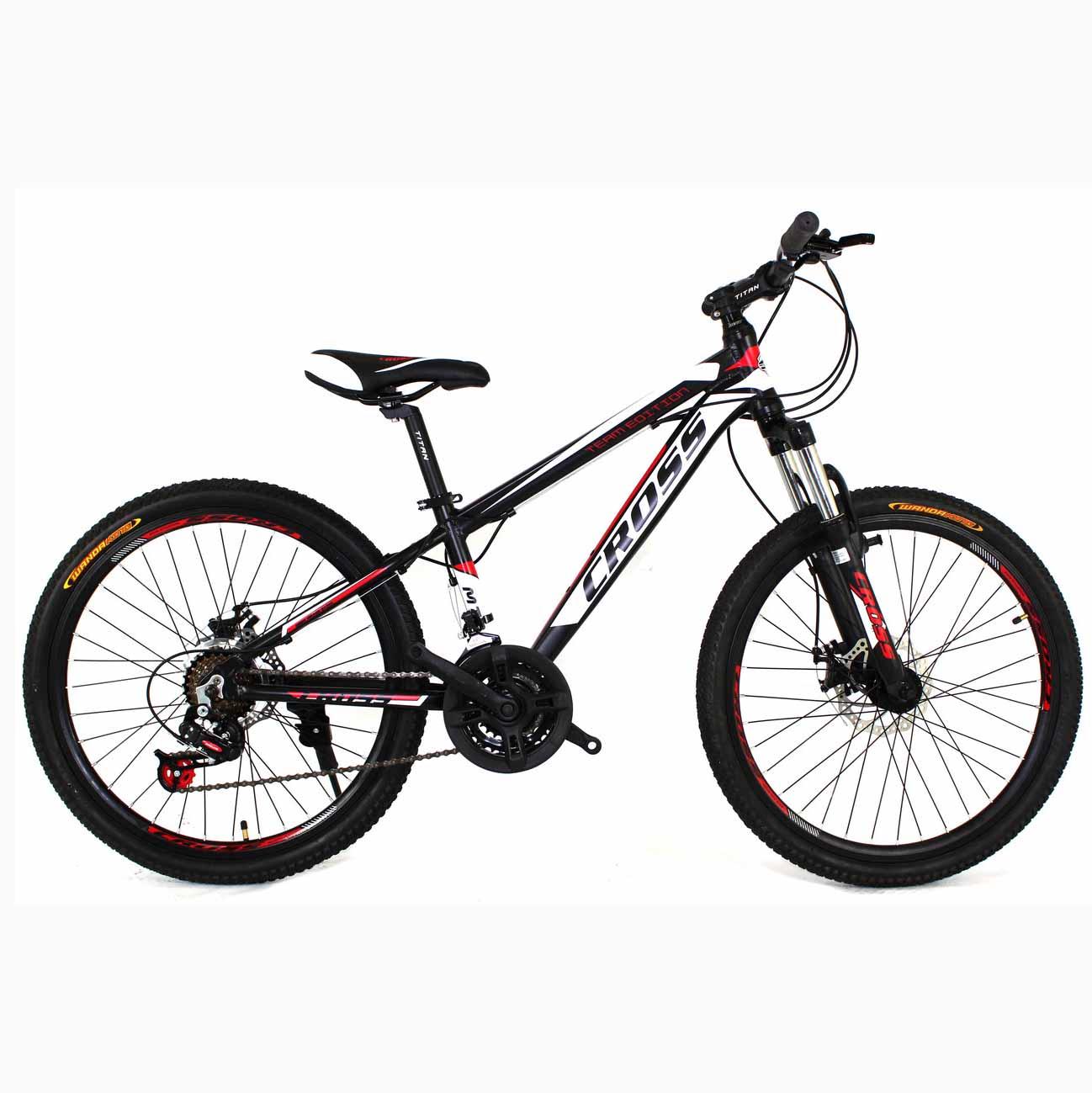Фото Подростковый Велосипед Cross Hunter 24 Black-White-Red