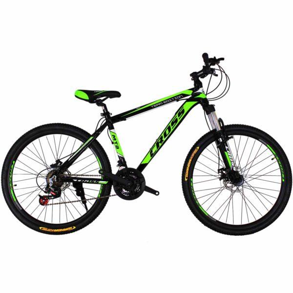 Фото Подростковый Велосипед Cross Hunter 26 Black-Green-White
