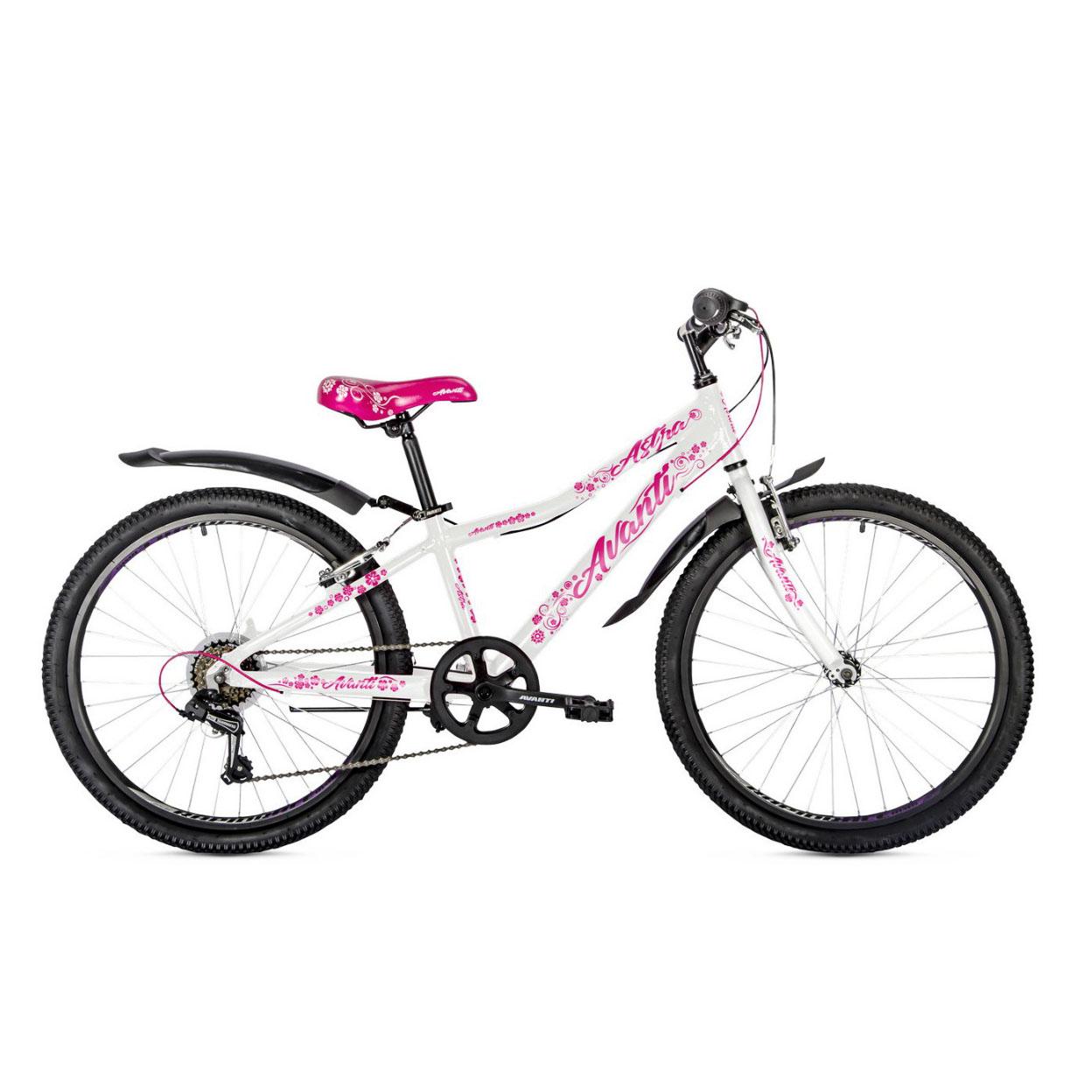 Фото Подростковый Велосипед 24 Avanti Jasmine 2018 бело-розовый