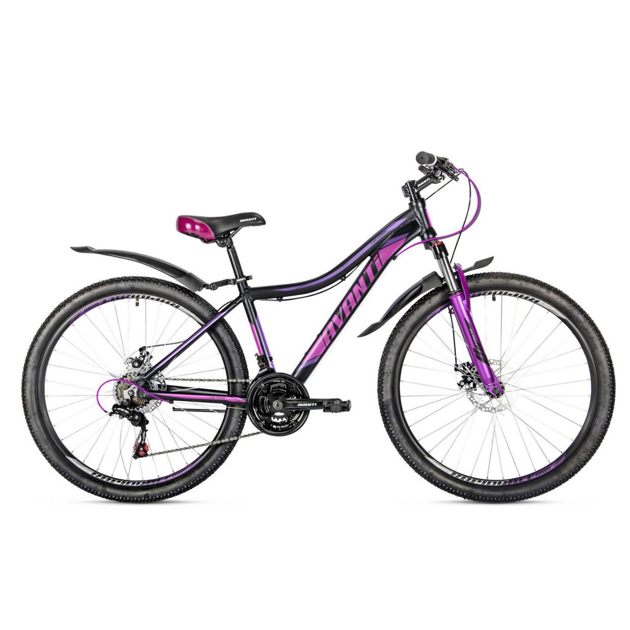 Фото Женский Велосипед  26 Avanti Calypso disk 2018 вилка Lock Out черно-фиолетный