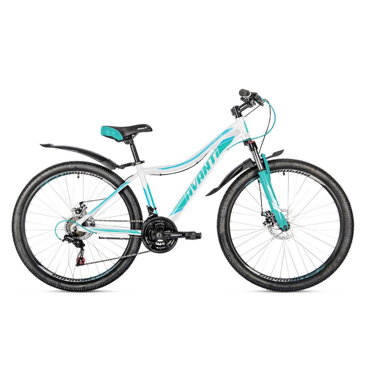 Фото Женский Велосипед  26 Avanti Calypso disk 2018 вилка Lock Out  бело-бирюзовый