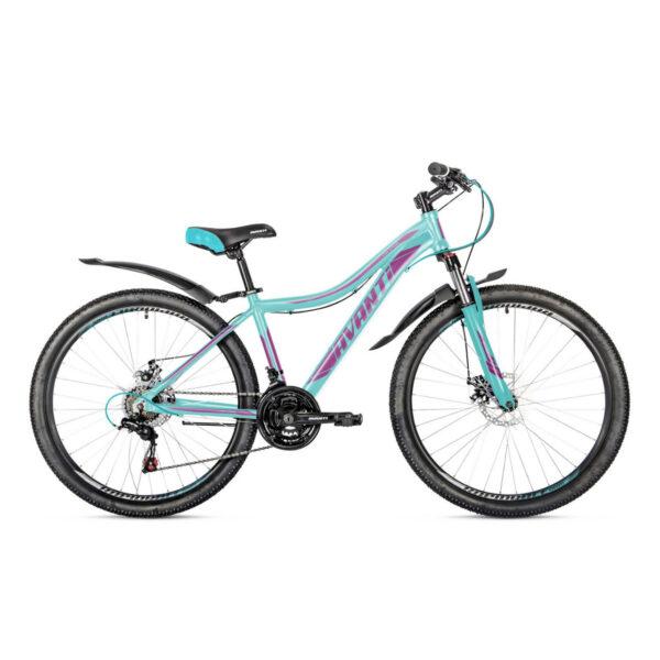 Фото Женский Велосипед  26 Avanti Calypso disk 2018 вилка Lock Out бирюзово-фиолетовый