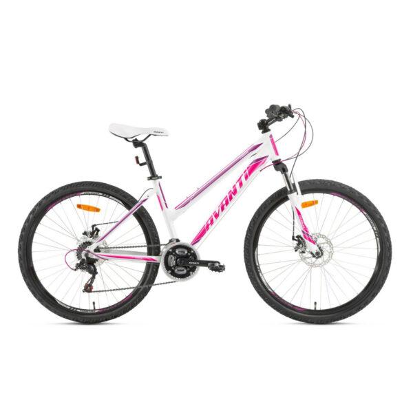 Фото Женский Велосипед  26 Avanti Corsa disk 2018  бело-фиолетовый