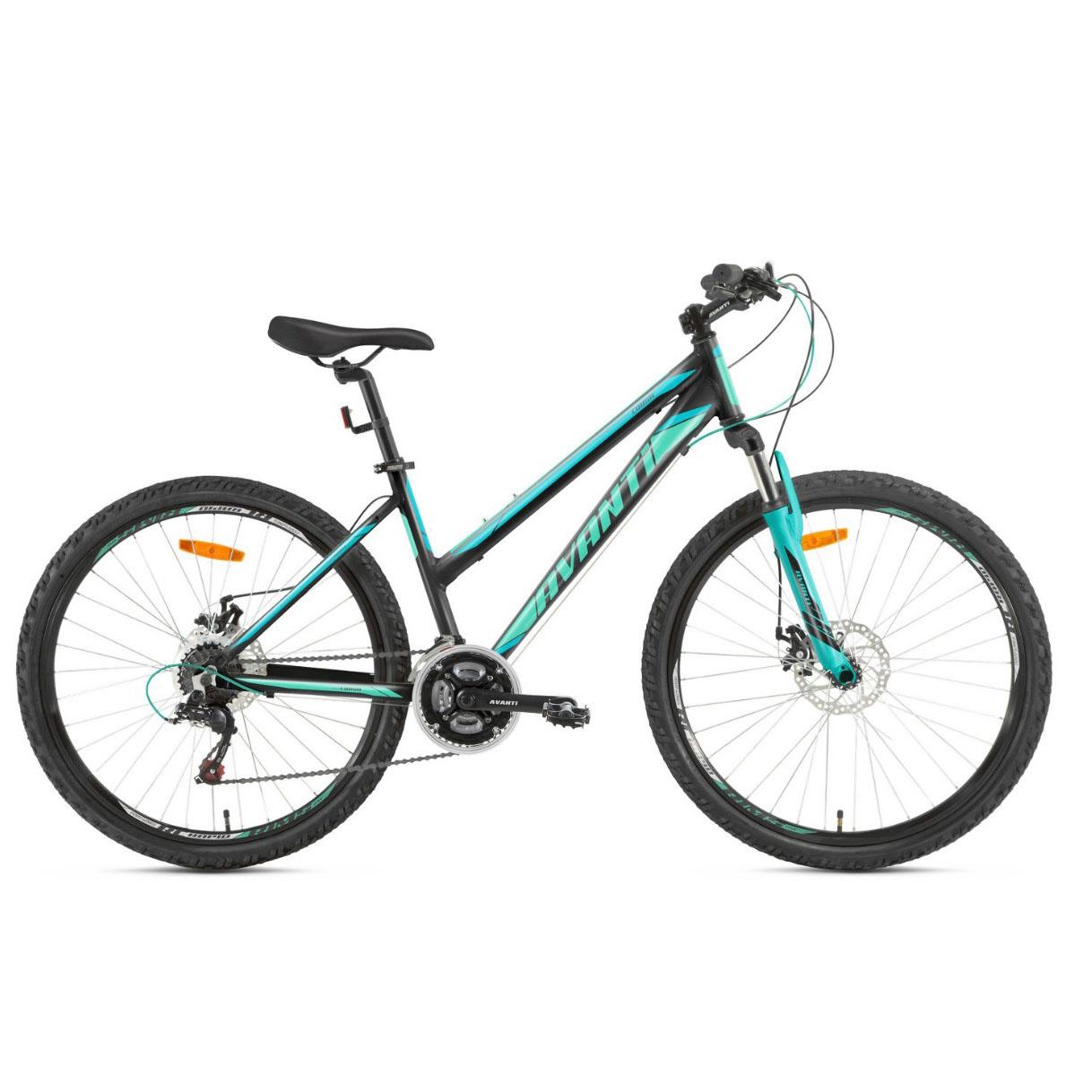 Фото Женский Велосипед  26 Avanti Corsa disk 2018 черно-зеленый