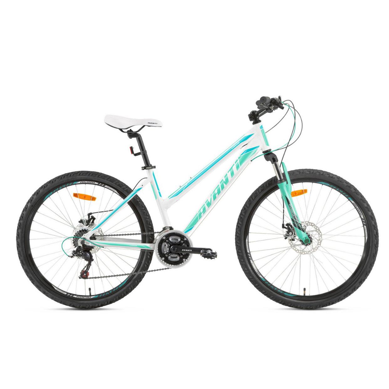 Фото Женский Велосипед  26 Avanti Corsa disk 2018 бело-бирюзовый