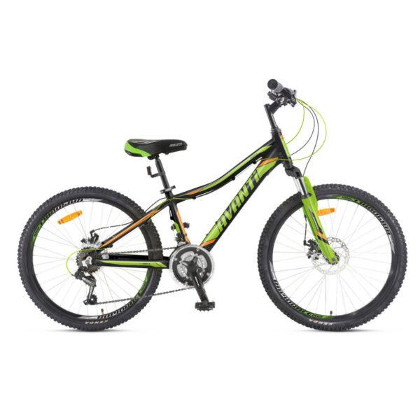 Фото Подростковый Велосипед 24 Avanti Drive disk 2018  черно-зелено-оранжевый