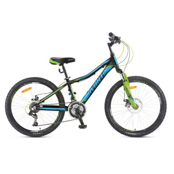 Фото Подростковый Велосипед 24 Avanti Drive disk 2018 черно-сине-зеленый