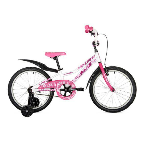 Фото Детский Велосипед 20 Avanti Lily 2018 бело-розовый