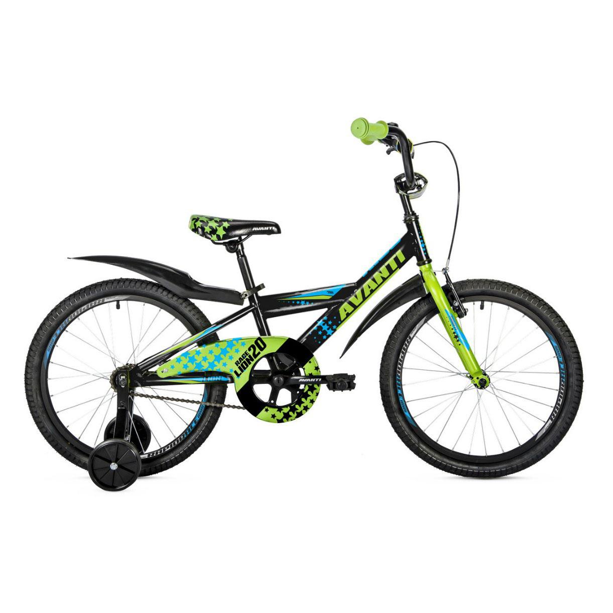 Фото Детский Велосипед 18 Avanti Lion 2018  черно-зелен-синий