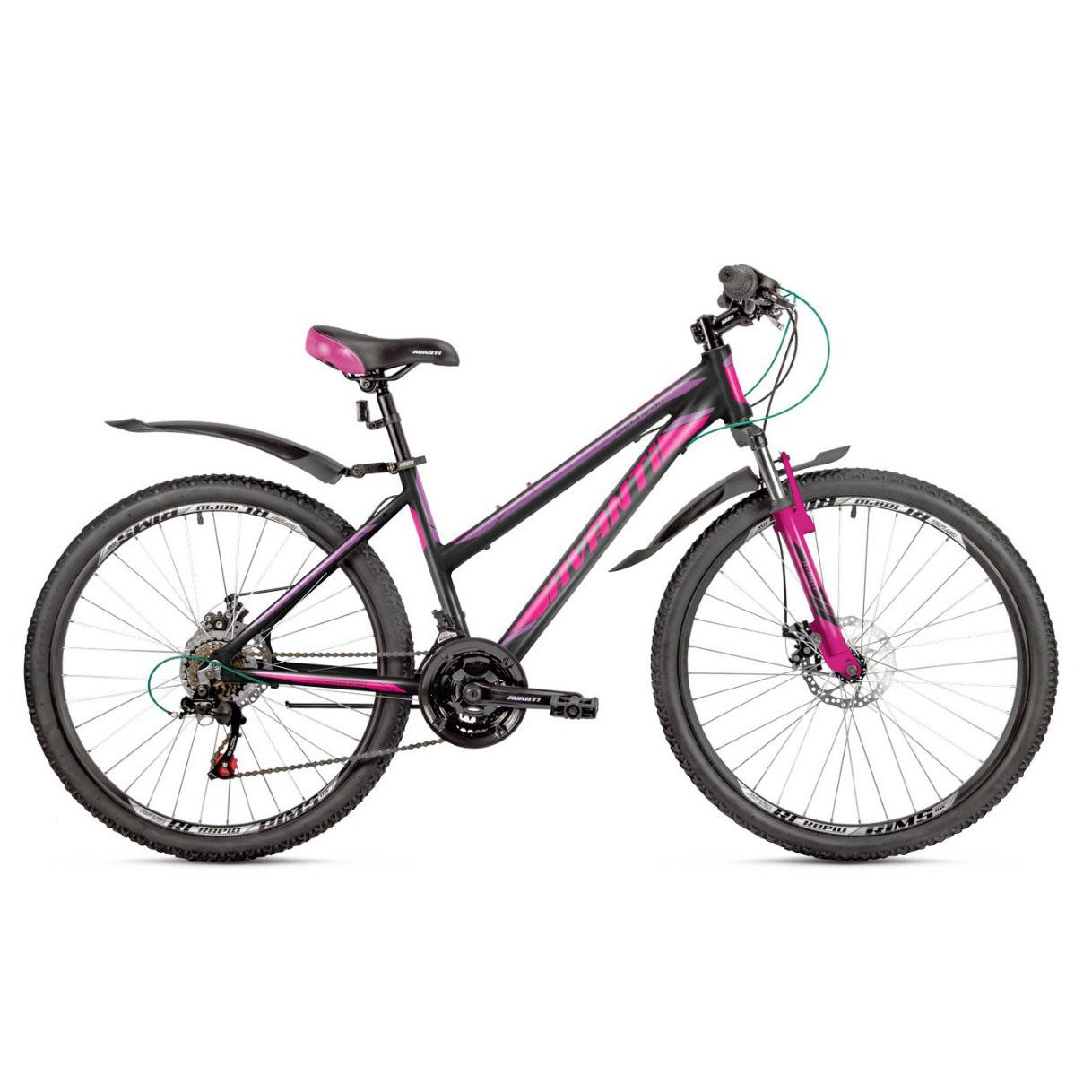 Фото Женский Велосипед  26 Avanti Omega Sport disk 2018 черно-розовый