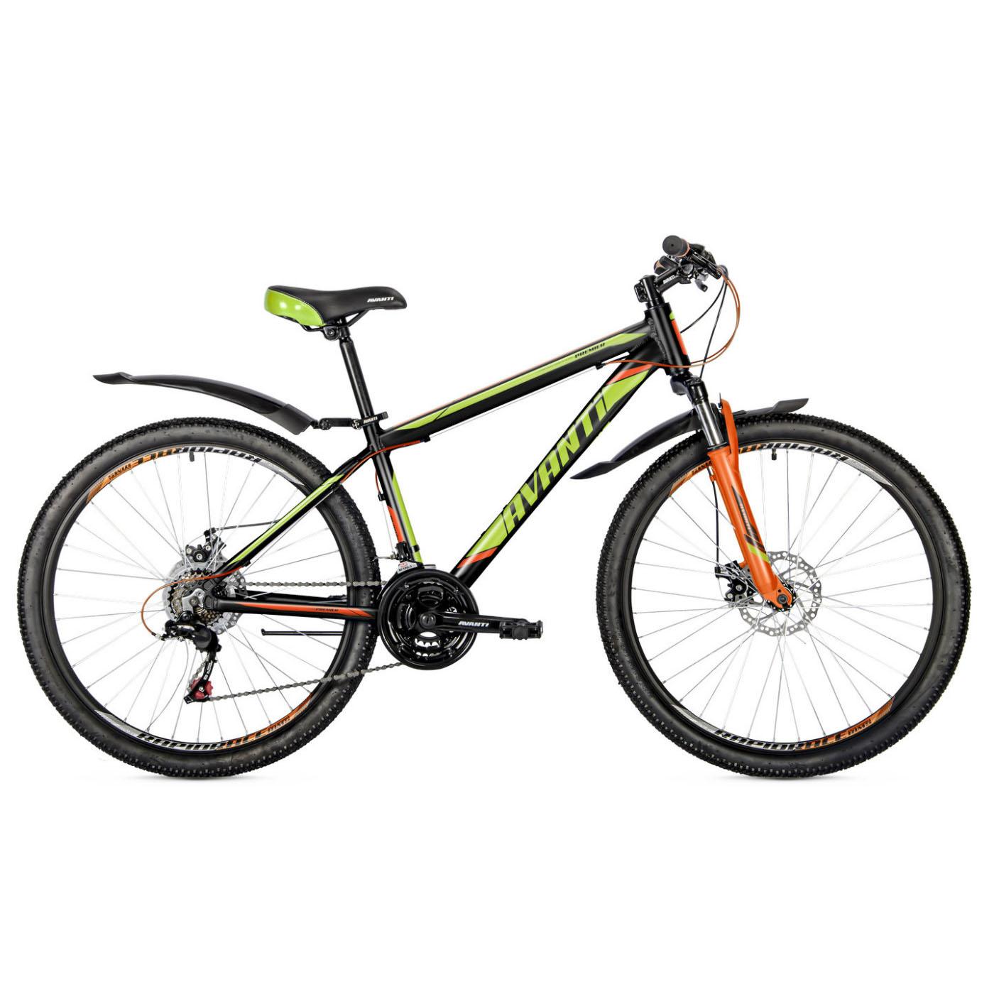 Фото Подростковый Велосипед 26 Avanti Premier disk 2018  черно-желто-оранжевый
