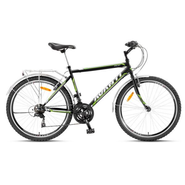 Фото Горный Велосипед   26 Avanti Pilot v-brake 2016 черно-зеленый