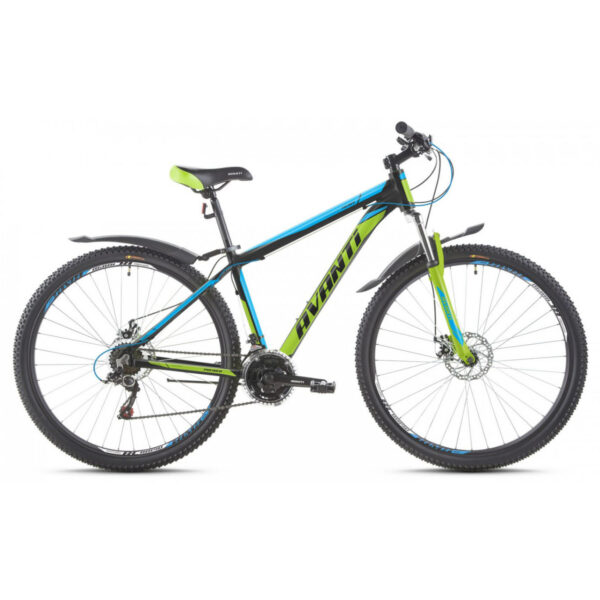 Фото Горный Велосипед   29 Avanti Premier disk 2017 черно-зелено-синий
