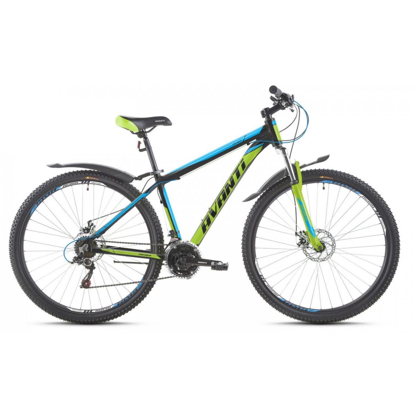 Фото Горный Велосипед   27,5 Avanti Premier disk 2017 черно-зелено-синий