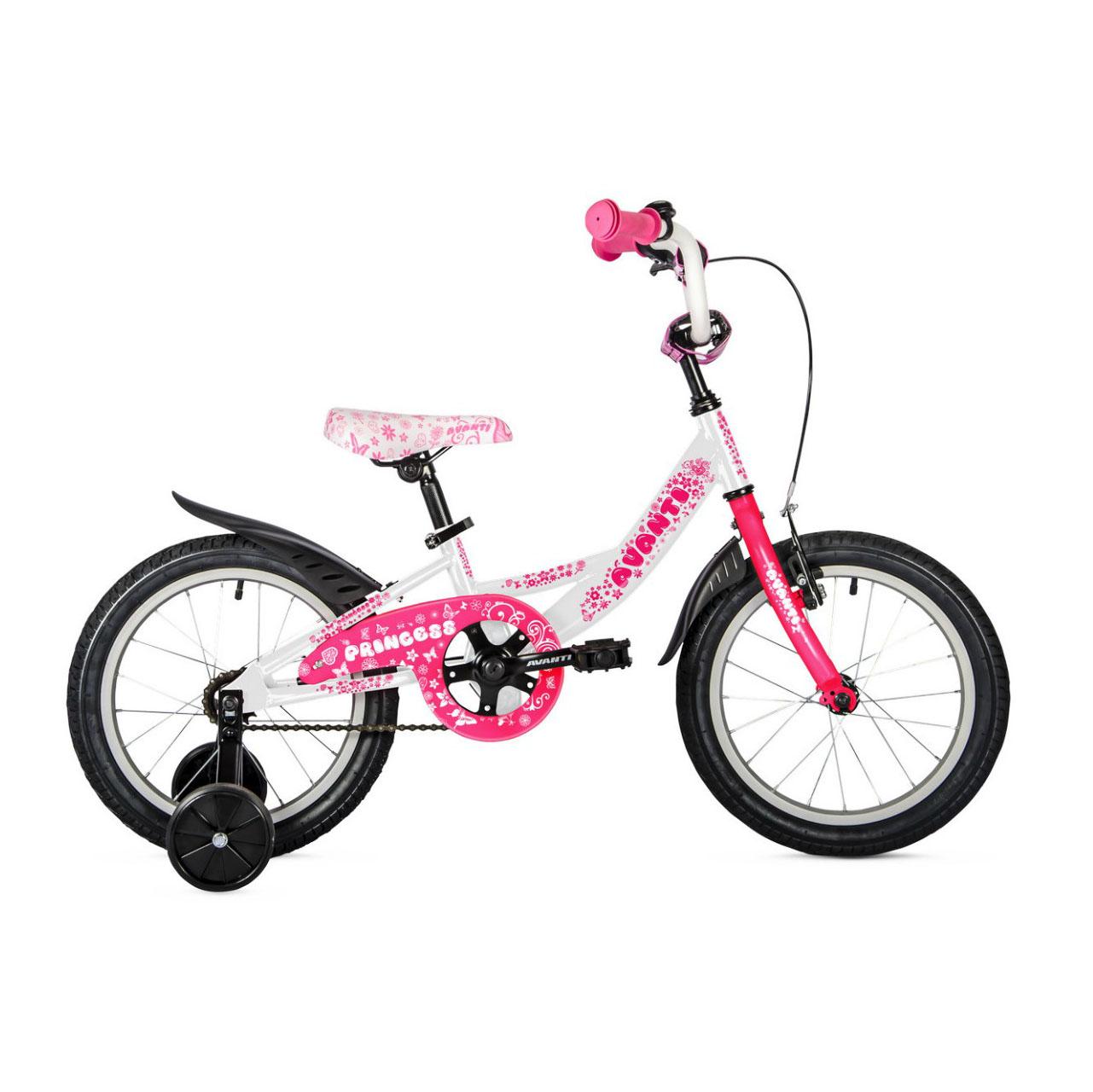 Фото Детский Велосипед 16 Avanti Princess 2018 бело-розовый