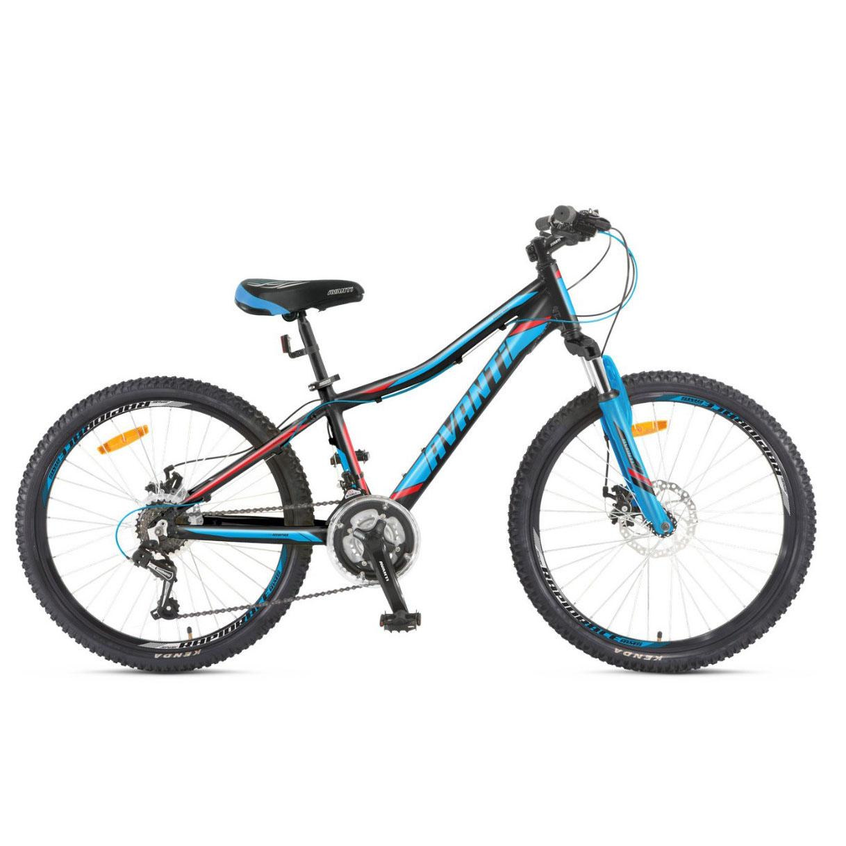 Фото Подростковый Велосипед 24 Avanti Rapid disk 2018 черно-сине-красный