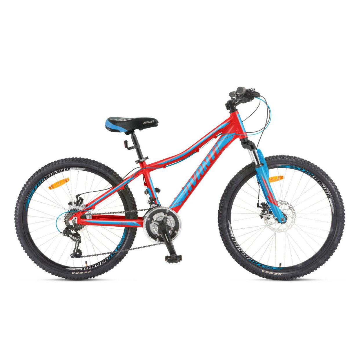 Фото Подростковый Велосипед 24 Avanti Rapid disk 2018  красно-синий