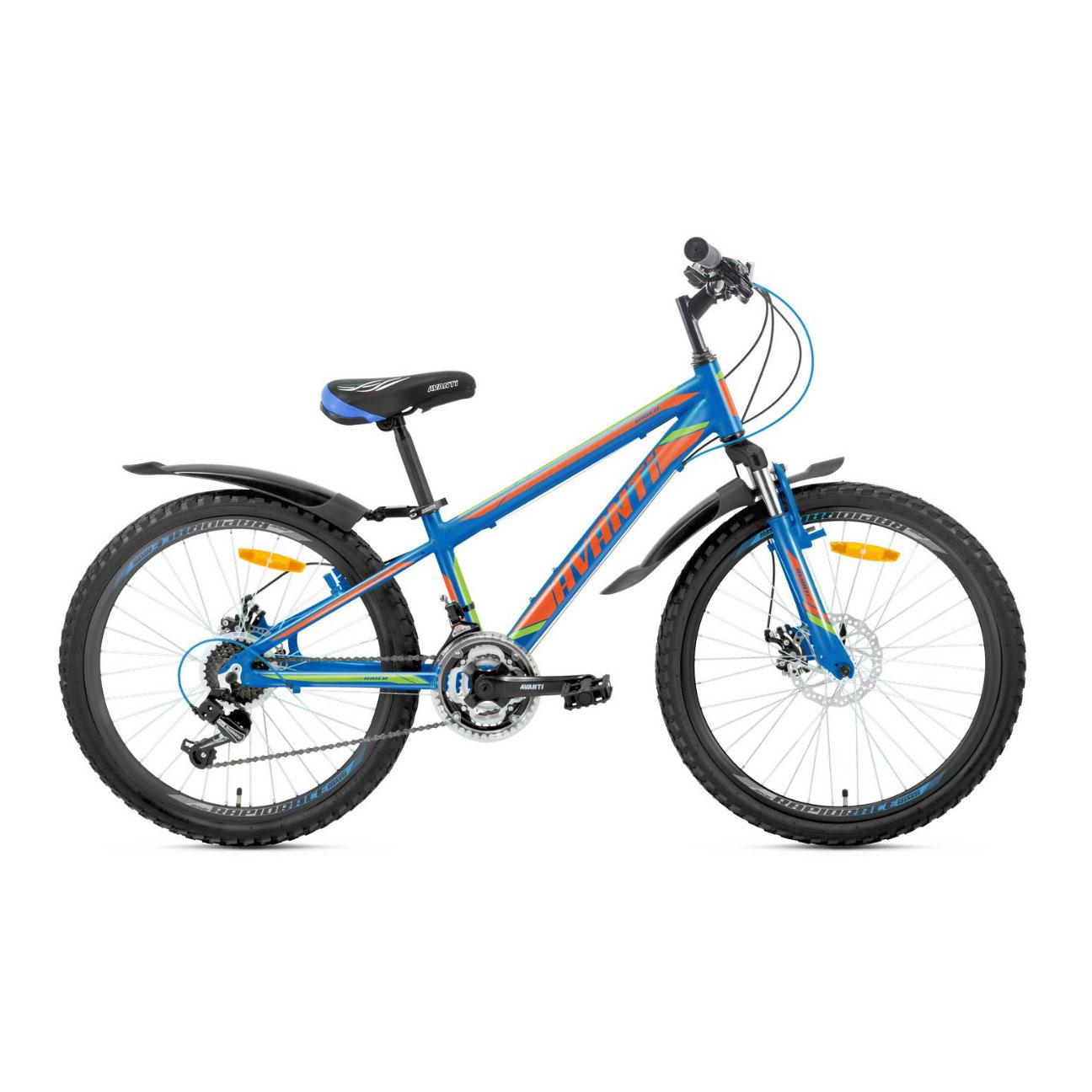 Фото Подростковый Велосипед 24 Avanti Rider disk 2018 черно-оранжево-синий