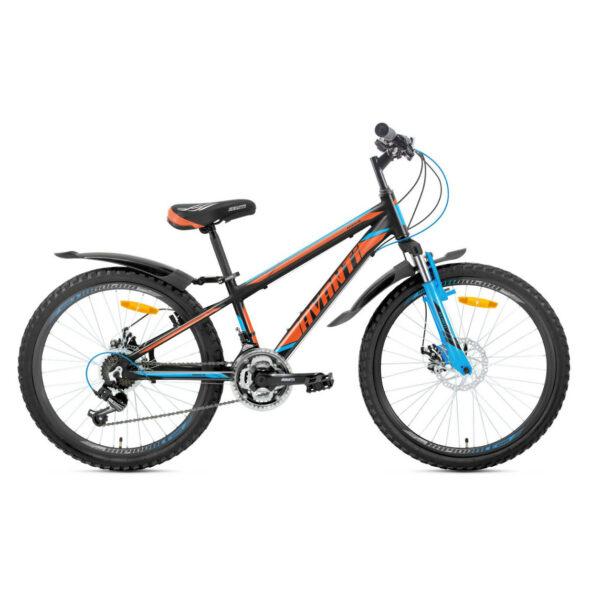 Фото Подростковый Велосипед 24 Avanti Rider disk 2018 сине-оранжевый
