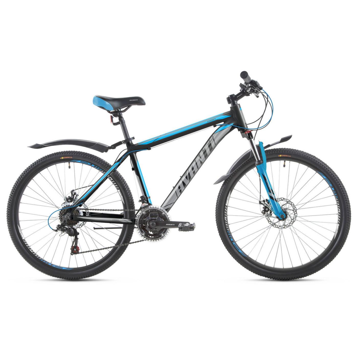 Фото Горный Велосипед   26 Avanti Smart disk 2018 вилка Lock Out черно-синий