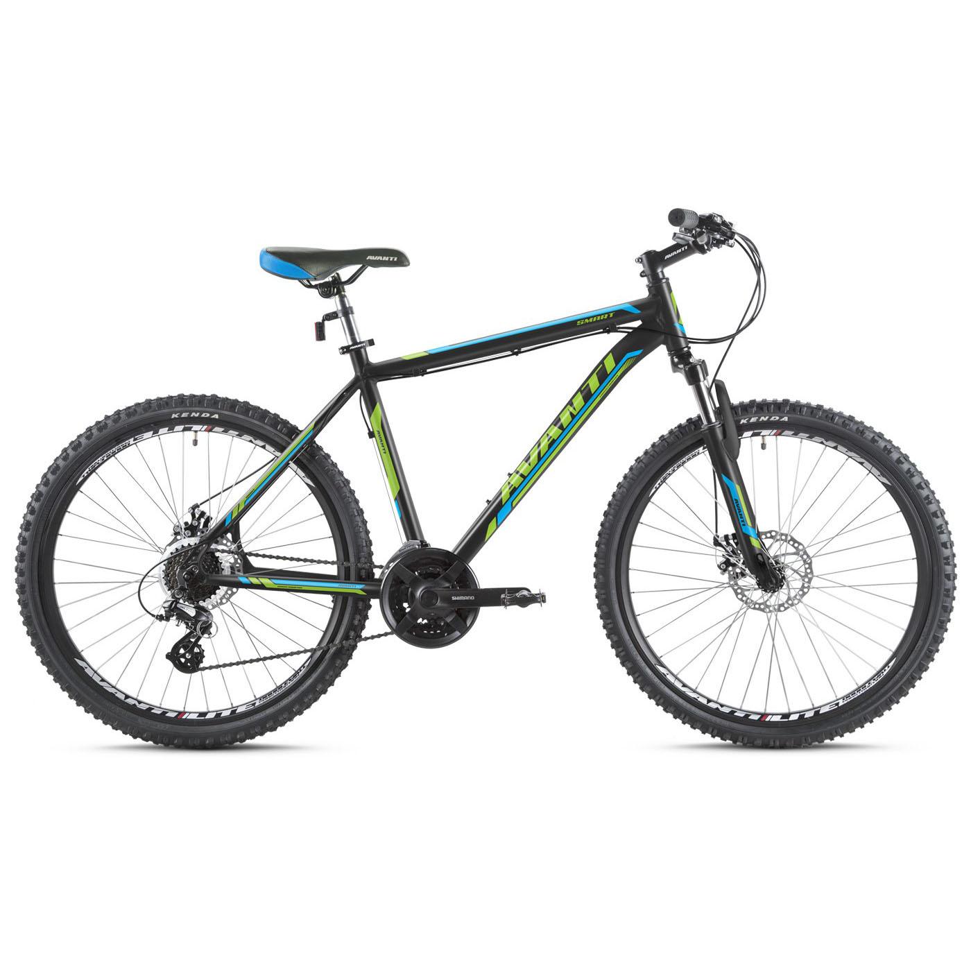 Фото Горный Велосипед   27,5 Avanti Smart disk 2016 черно-зеленый