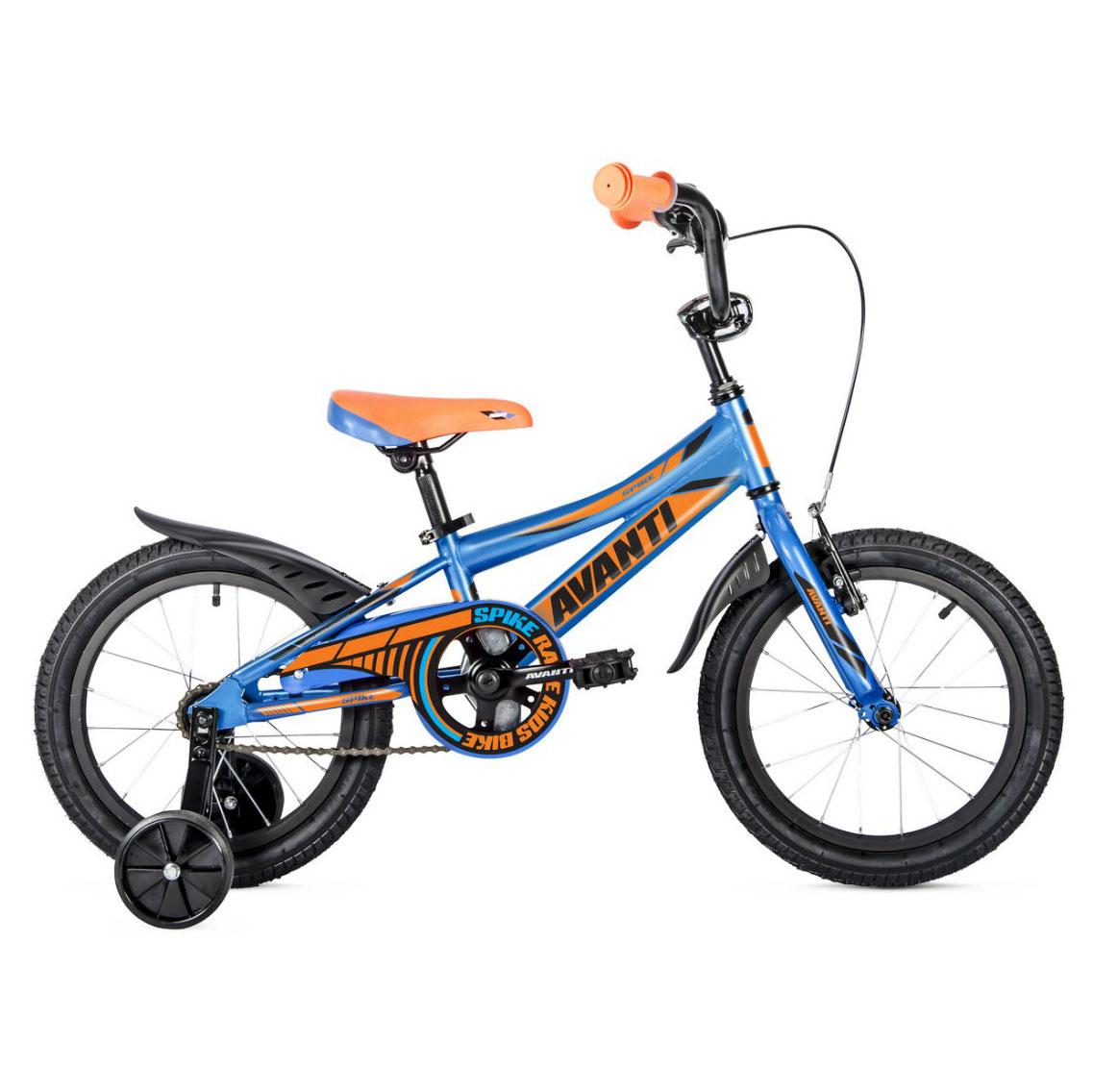 Фото Детский Велосипед 18 Avanti Spike 2018 сине-оранжевый