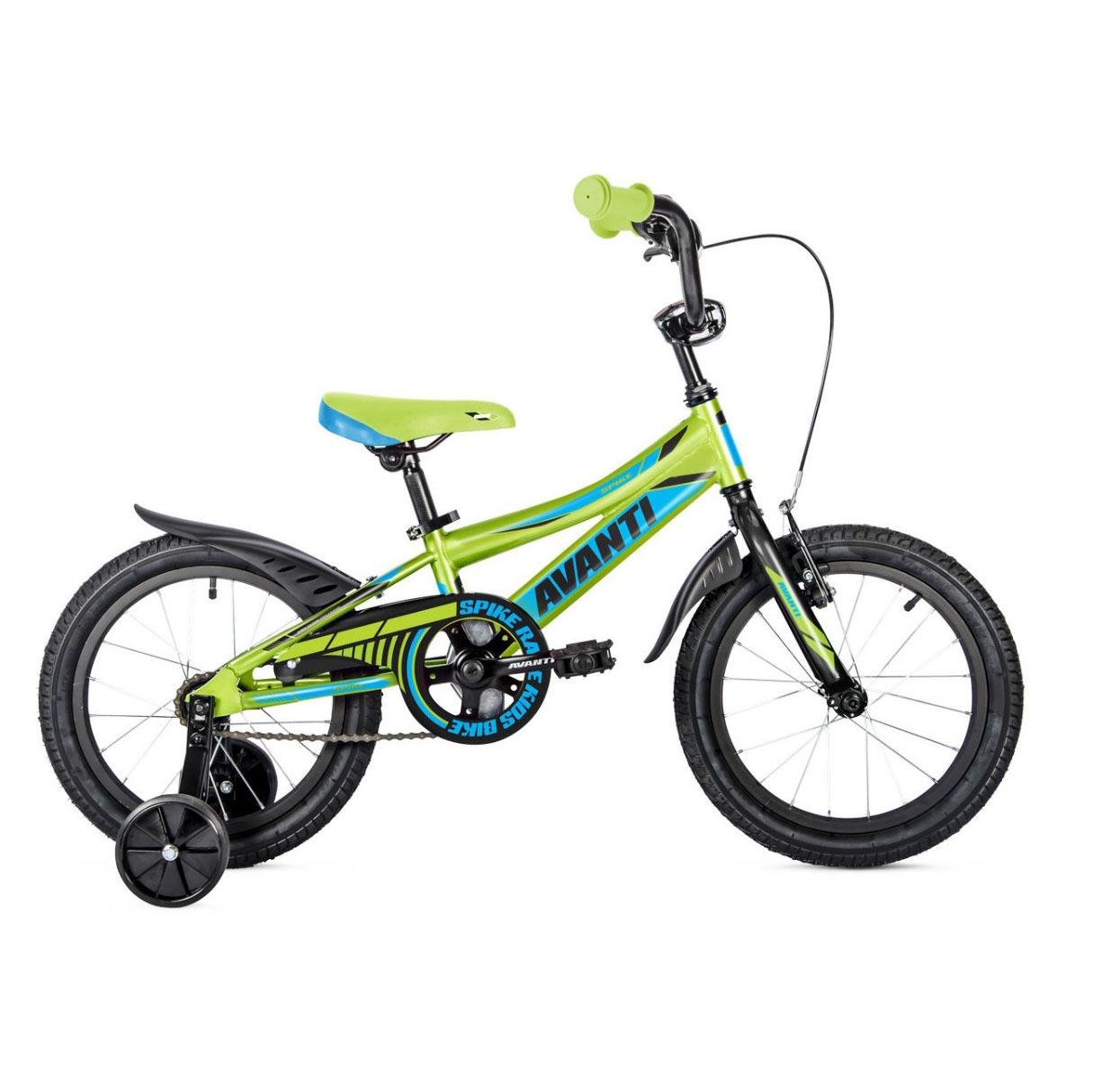 Фото Детский Велосипед 18 Avanti Spike 2018  зелено-синий