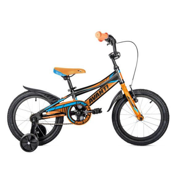 Фото Детский Велосипед 20 Avanti Spike 2018 черно-оранжевый