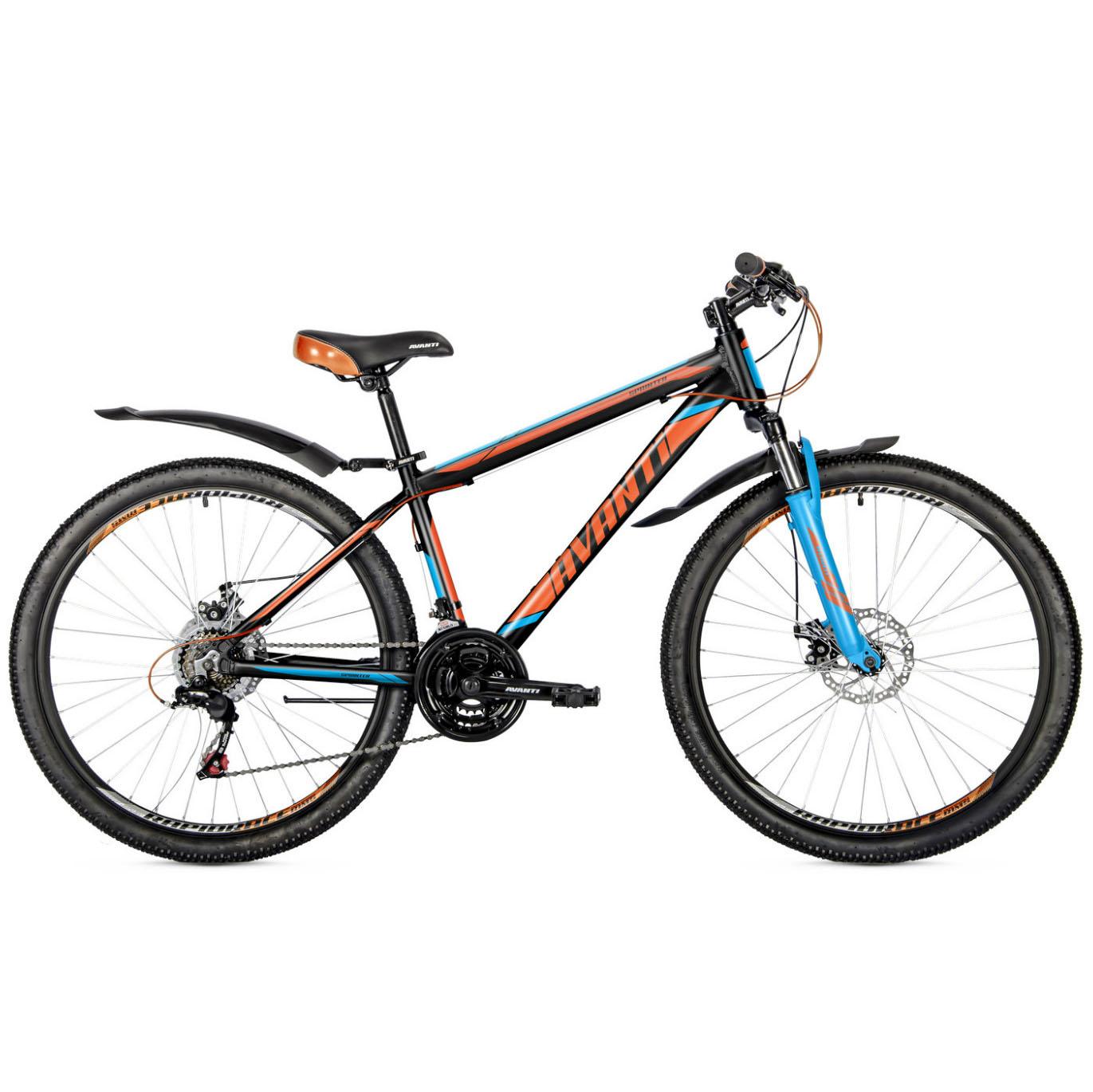 Фото Горный Велосипед   29 Avanti Sprinter disk 2018 Lock Out черно-оранжево-синий